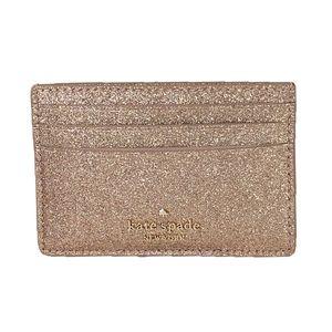 KATE SPADE Joeley Gold Credit Card Case NEW